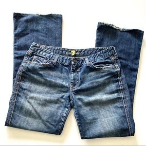 7 for all Mankind A Pocket Flare Blue Jeans 31